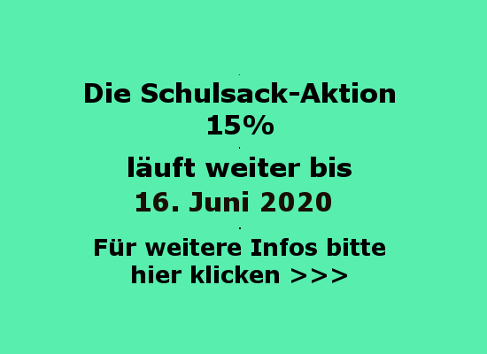 Schulsack Aktion 2020 Flyer